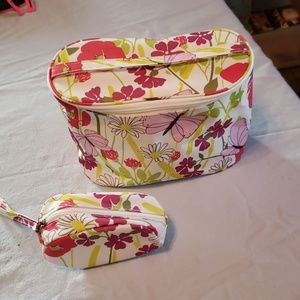 CLINIQUE MAKE UP BAG AND SMALLER BAG WITH HANDLE